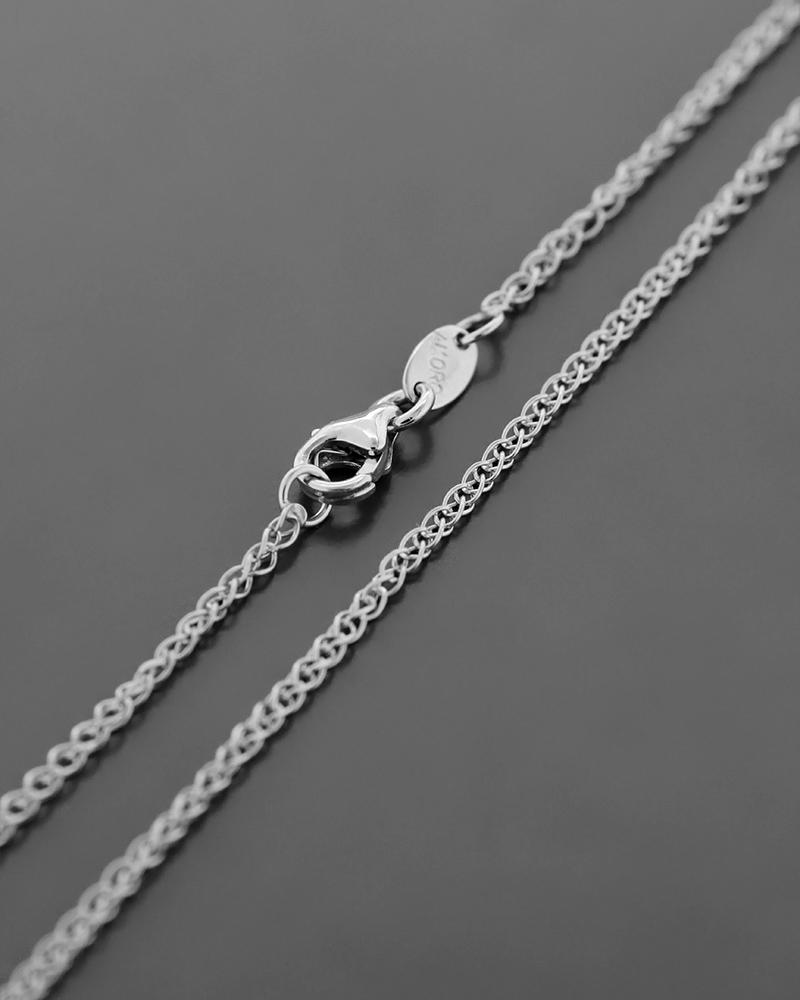 Αλυσίδα λαιμού λευκόχρυση Κ14 45,5 cm   γυναικα αλυσίδες λαιμού αλυσίδες λευκόχρυσες