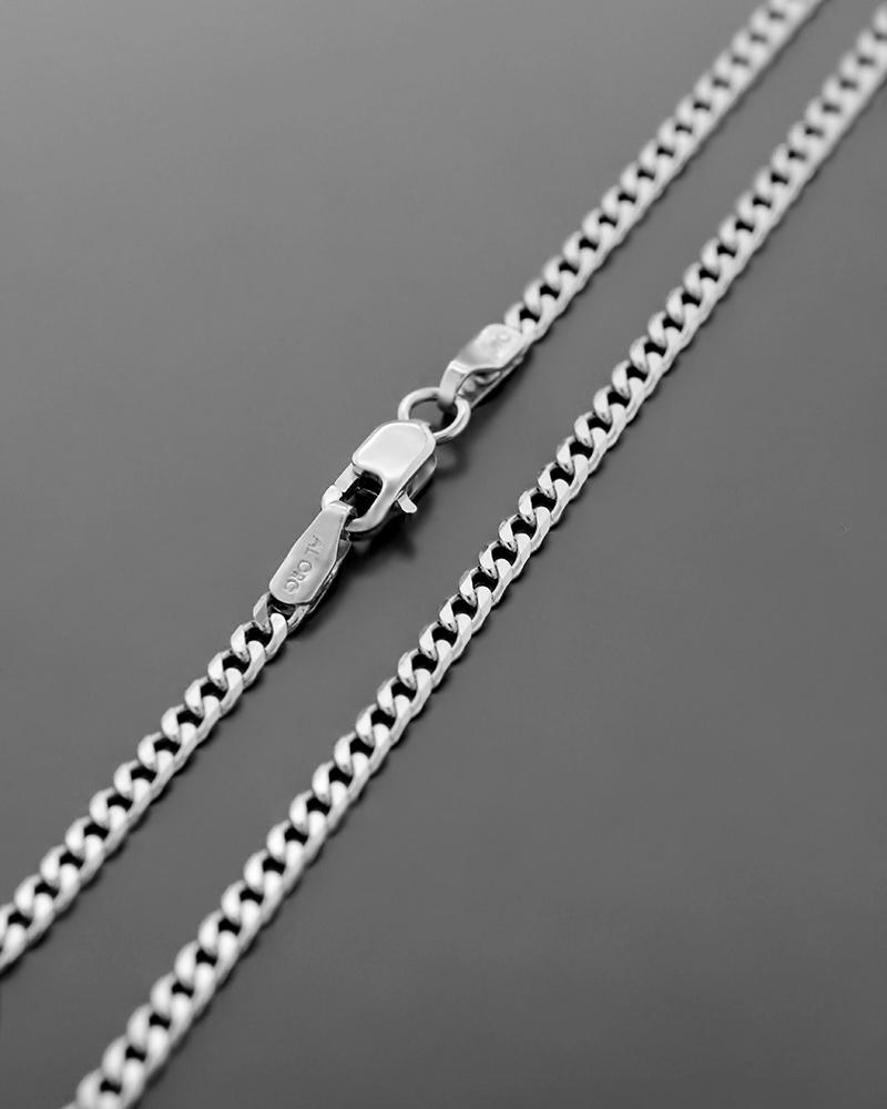 Αλυσίδα Λαιμού Λευκόχρυση Κ14 60m   γυναικα αλυσίδες λαιμού αλυσίδες λευκόχρυσες