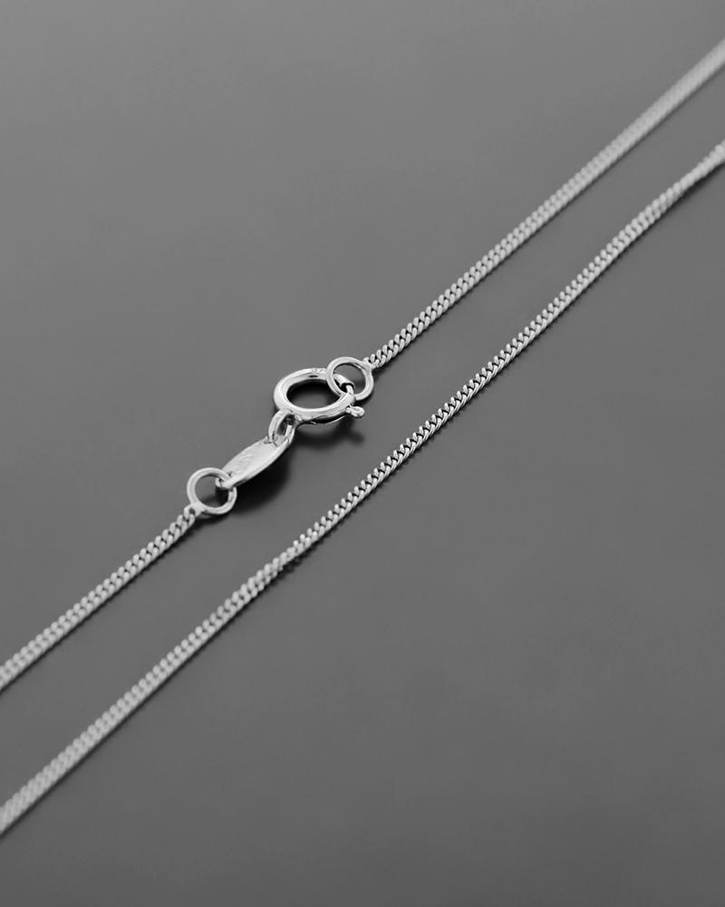 Αλυσίδα λαιμού λευκόχρυση Κ14 41 cm   γυναικα αλυσίδες λαιμού αλυσίδες λευκόχρυσες