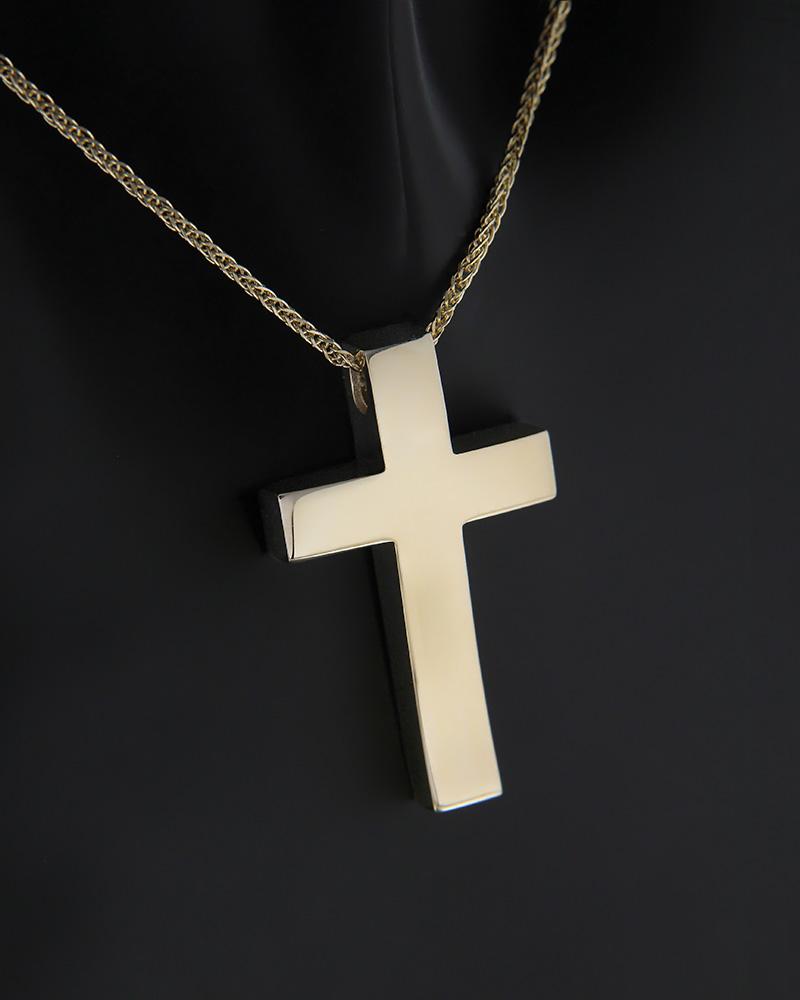 Σταυρός με αλυσίδα χρυσός Κ14   κοσμηματα σταυροί βαπτιστικοί σταυροί για αγόρι