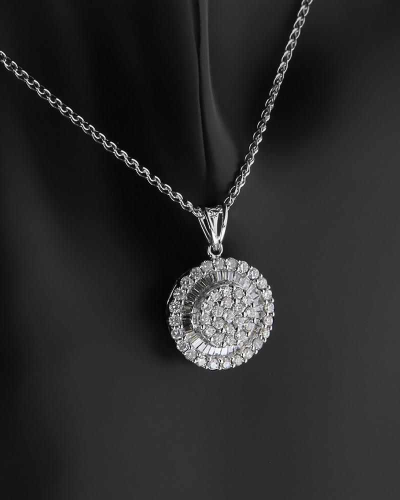 Μενταγιόν Με Διαμάντια Λευκόχρυσο Κ18   γυναικα κρεμαστά κολιέ κρεμαστά κολιέ διαμάντια