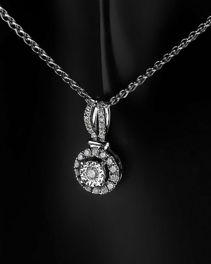 Μενταγιόν Με Διαμάντια Κ18 Λευκόχρυσο   γυναικα κρεμαστά κολιέ κρεμαστά κολιέ διαμάντια