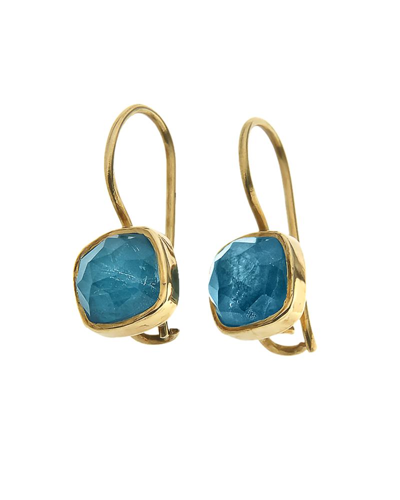 Σκουλαρίκια ασημένια 925 με απατίτη doublet   κοσμηματα σκουλαρίκια σκουλαρίκια ημιπολύτιμοι λίθοι