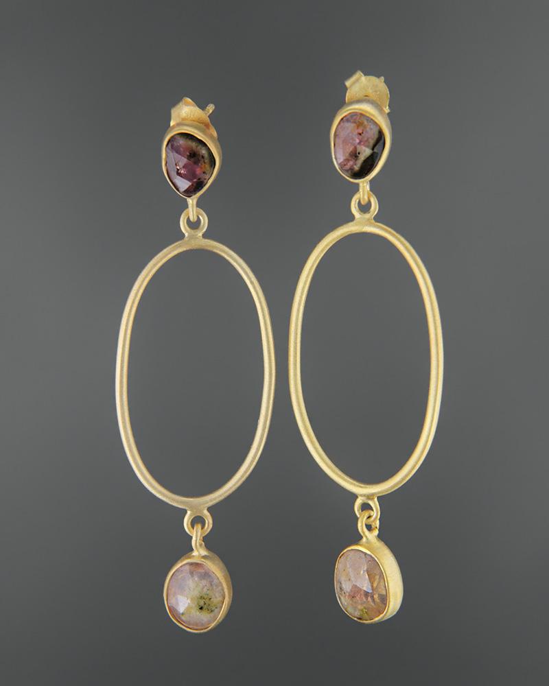 Σκουλαρίκια ασημένια 925 με τουρμαλίνη   κοσμηματα σκουλαρίκια σκουλαρίκια ημιπολύτιμοι λίθοι