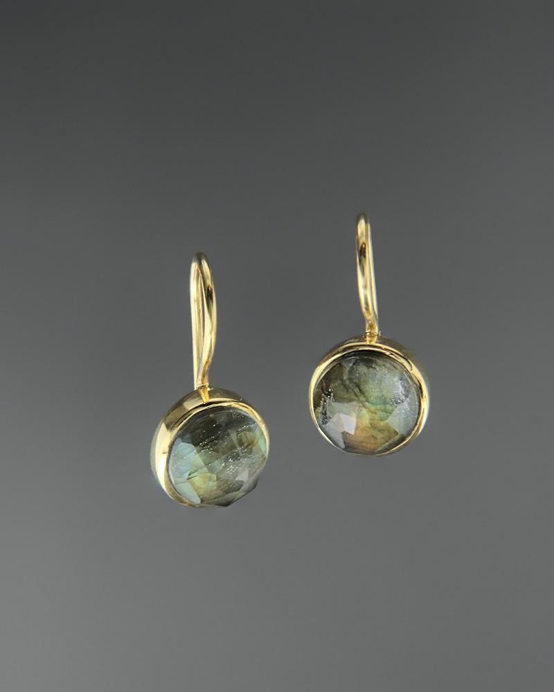 Σκουλαρίκια ασημένια 925 με λαβραδορίτη doublet   κοσμηματα σκουλαρίκια σκουλαρίκια ημιπολύτιμοι λίθοι