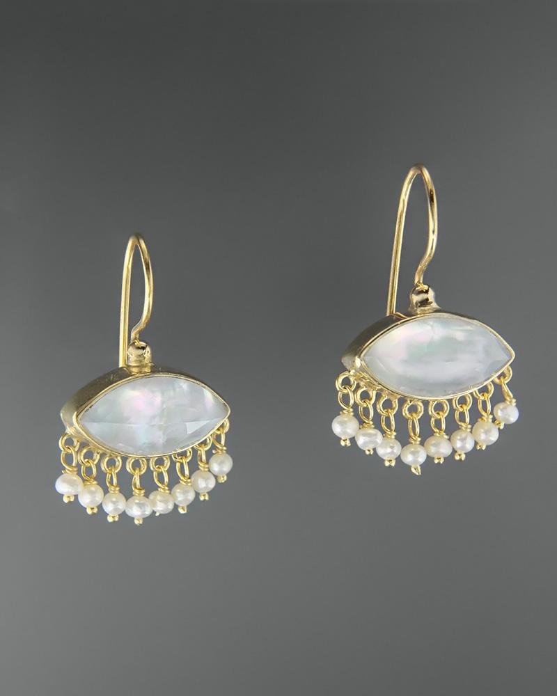 Σκουλαρίκια ασημένια 925 με mother of pearl doublet   κοσμηματα σκουλαρίκια σκουλαρίκια ημιπολύτιμοι λίθοι