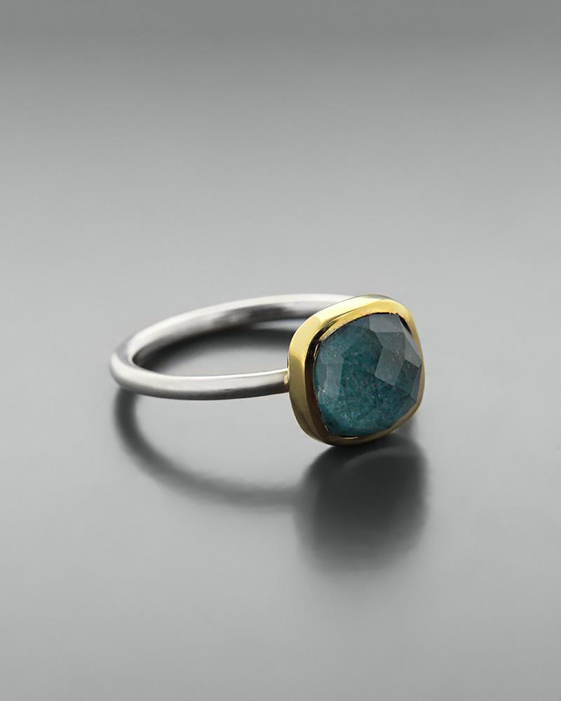 Δαχτυλίδι ασημένιο 925 με απατίτη doublet   κοσμηματα δαχτυλίδια δαχτυλίδια ημιπολύτιμοι λίθοι