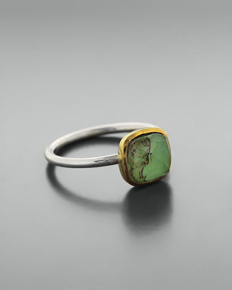 Δαχτυλίδι ασημένιο 925 με green copper doublet   κοσμηματα δαχτυλίδια δαχτυλίδια ημιπολύτιμοι λίθοι
