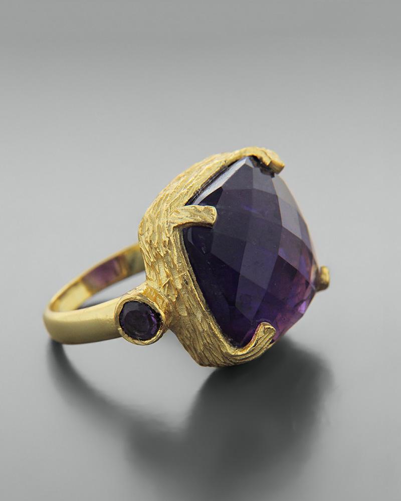 Δαχτυλίδι ασημένιο 925 με αμέθυστο   κοσμηματα δαχτυλίδια δαχτυλίδια ημιπολύτιμοι λίθοι