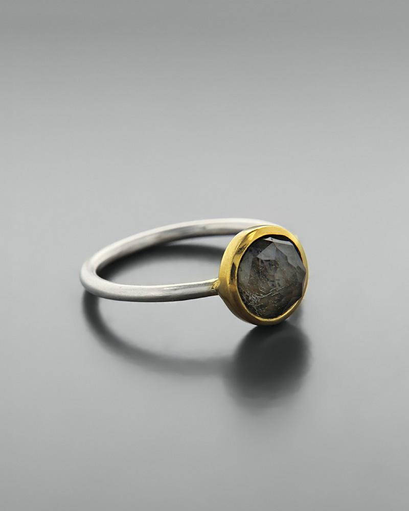Δαχτυλίδι ασημένιο 925 με λαβραδορίτη doublet   κοσμηματα δαχτυλίδια δαχτυλίδια ημιπολύτιμοι λίθοι