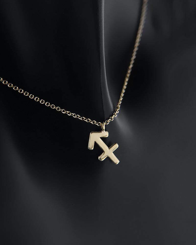 Κολιέ ζώδιο Τοξότης χρυσό Κ14   γυναικα κρεμαστά κολιέ κρεμαστά κολιέ ζώδια