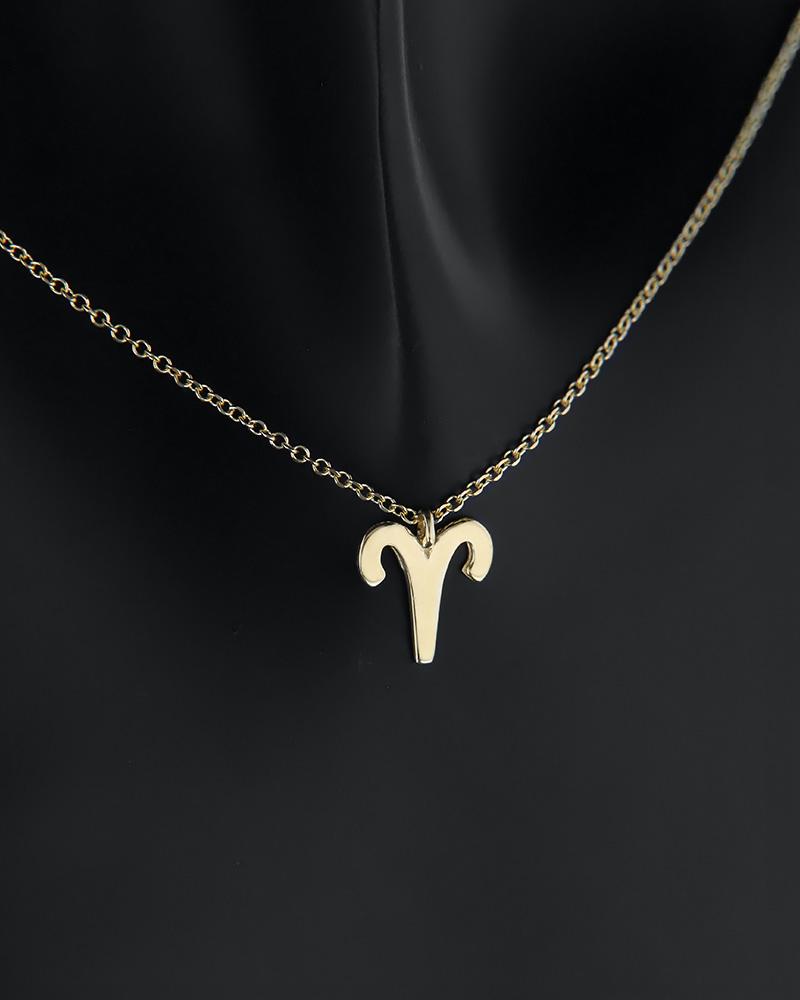 Κολιέ ζώδιο Κριός χρυσό Κ14   κοσμηματα κρεμαστά κολιέ κρεμαστά κολιέ ζώδια