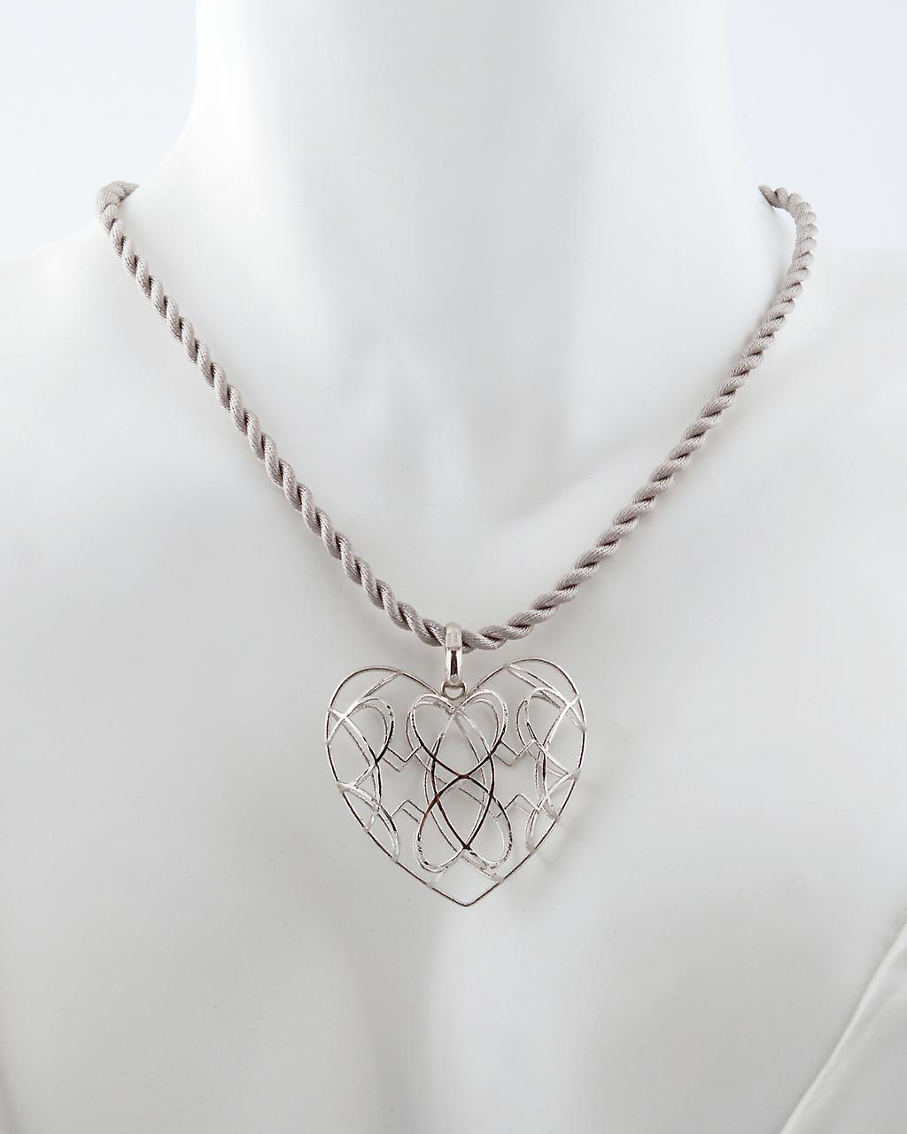Κρεμαστό καρδιά λευκόχρυσο Κ18   γυναικα κρεμαστά κολιέ κρεμαστά κολιέ καρδιές