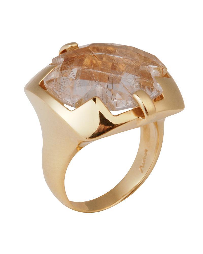 Δαχτυλίδι χρυσό Κ18 με Quartz   γυναικα δαχτυλίδια δαχτυλίδια ημιπολύτιμοι λίθοι