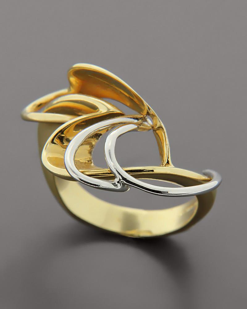 Δαχτυλίδι χρυσό & λευκόχρυσο Κ18   γυναικα δαχτυλίδια δαχτυλίδια fashion