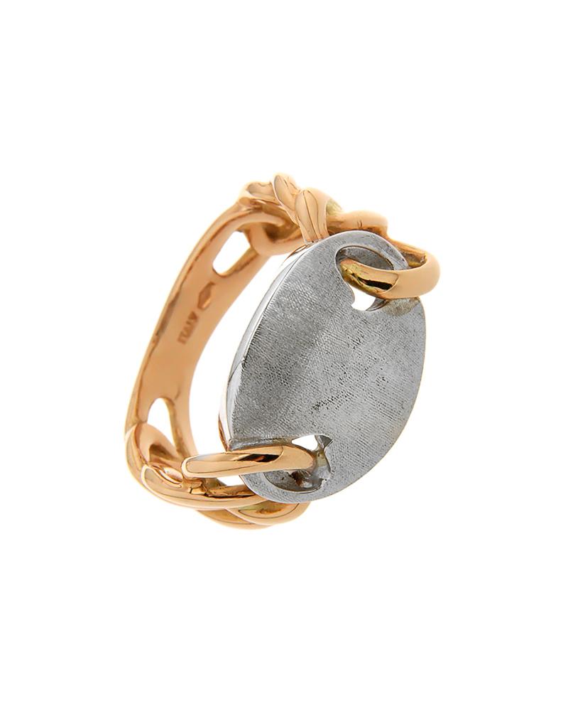 Δαχτυλίδι ροζ χρυσό και λευκόχρυσο Κ14   γυναικα δαχτυλίδια δαχτυλίδια ροζ χρυσό