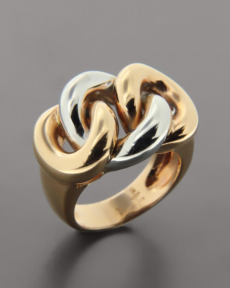 Δαχτυλίδι από ροζ και λευκόχρυσο Κ18   γυναικα δαχτυλίδια δαχτυλίδια ροζ χρυσό