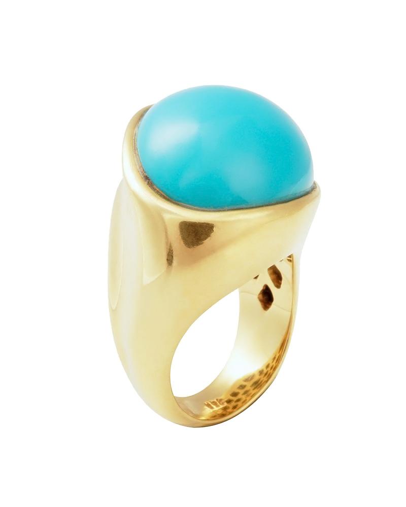 Δαχτυλίδι χρυσό 18Κ με Τυρκουάζ   γυναικα δαχτυλίδια δαχτυλίδια ημιπολύτιμοι λίθοι