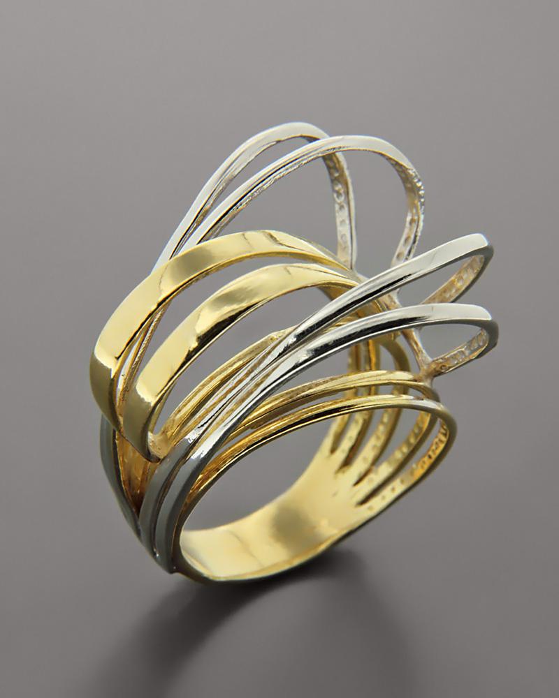Δαχτυλίδι χρυσό & λευκόχρυσο Κ18   γυναικα δαχτυλίδια δαχτυλίδια λευκόχρυσα
