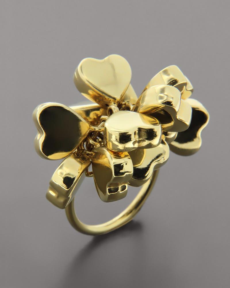 Δαχτυλίδι χρυσό Κ18 με καρδιές   γυναικα κοσμήματα με καρδιές