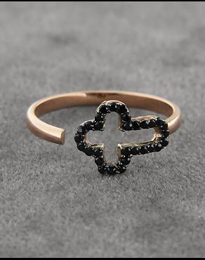 Δαχτυλίδι σταυρός ροζ χρυσό Κ14 με Ζιργκόν 7345436892d