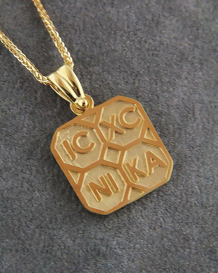 Κωνσταντινάτο χρυσό Κ14   κοσμηματα κρεμαστά κολιέ παιδικά φυλαχτά