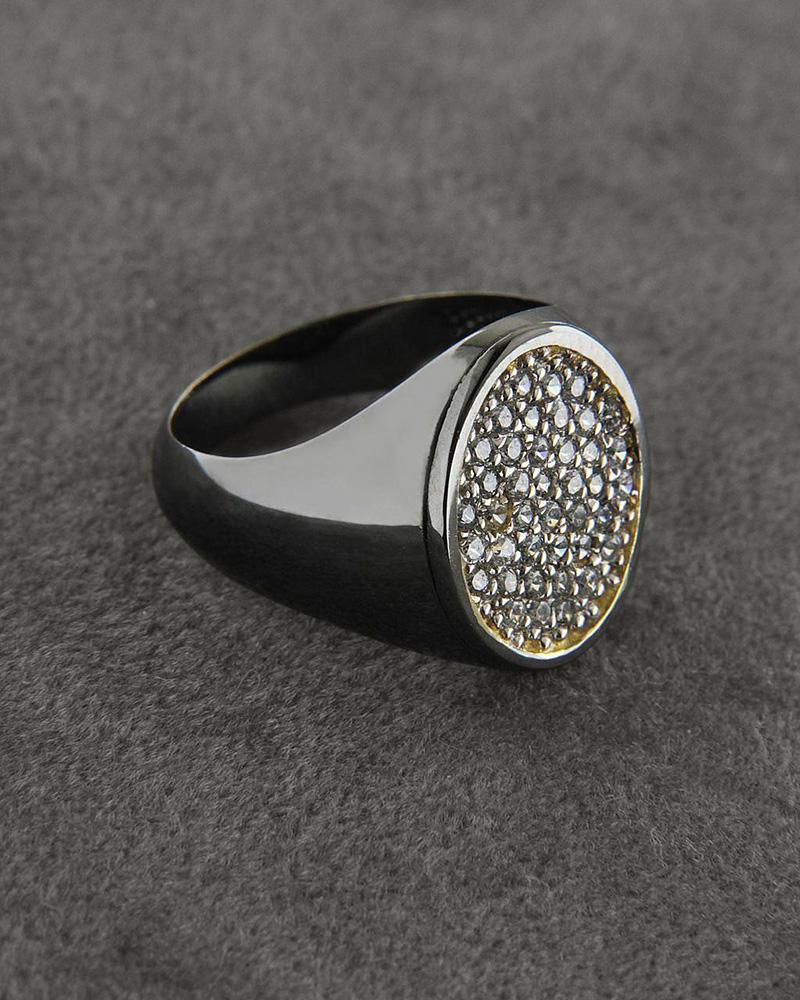 Δαχτυλίδι σεβαλιέ λευκόχρυσο Κ14 με Ζιργκόν   κοσμηματα δαχτυλίδια δαχτυλίδια fashion