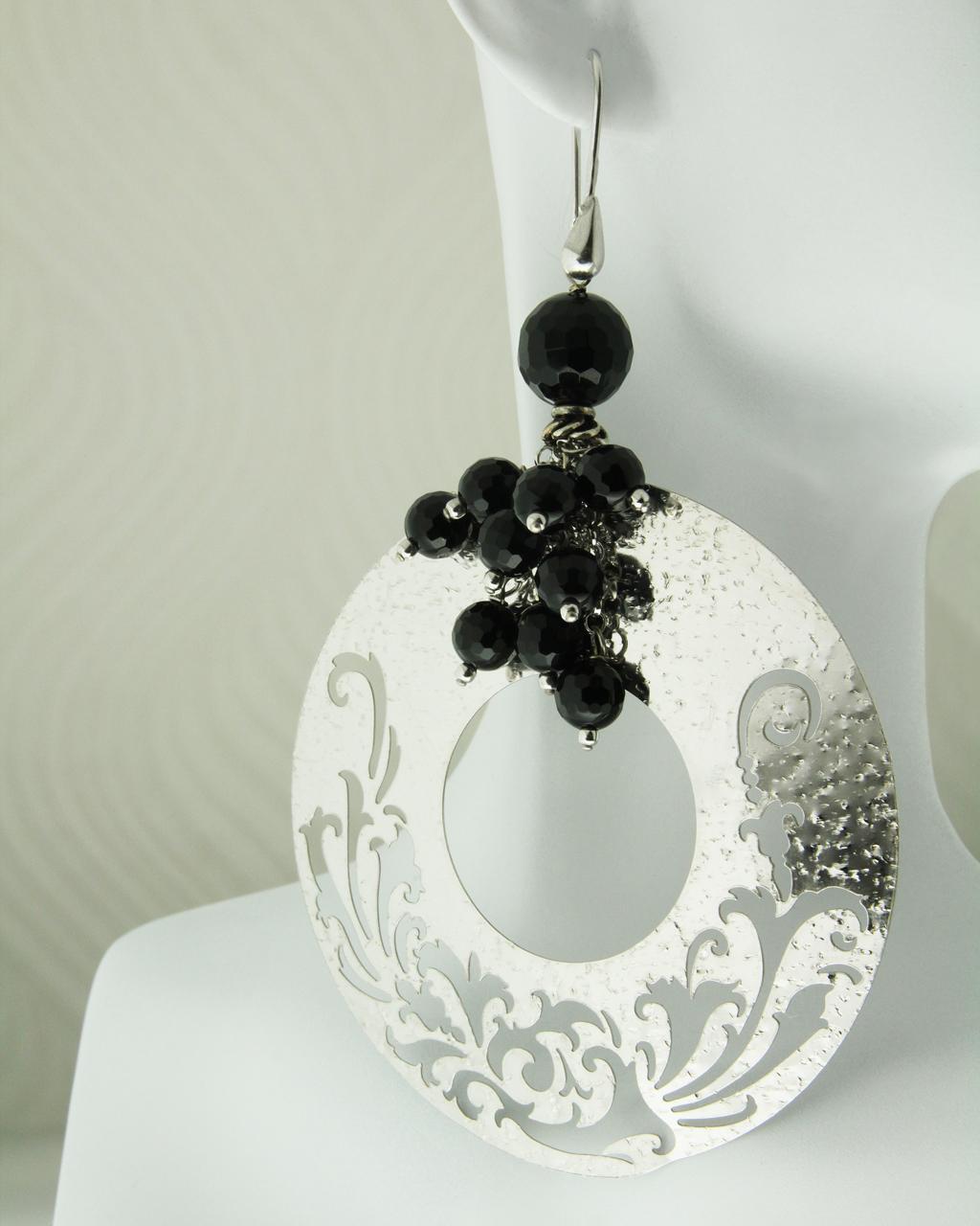 Σκουλαρίκια ασημένια 925 με Όνυχα   γυναικα σκουλαρίκια σκουλαρίκια ημιπολύτιμοι λίθοι