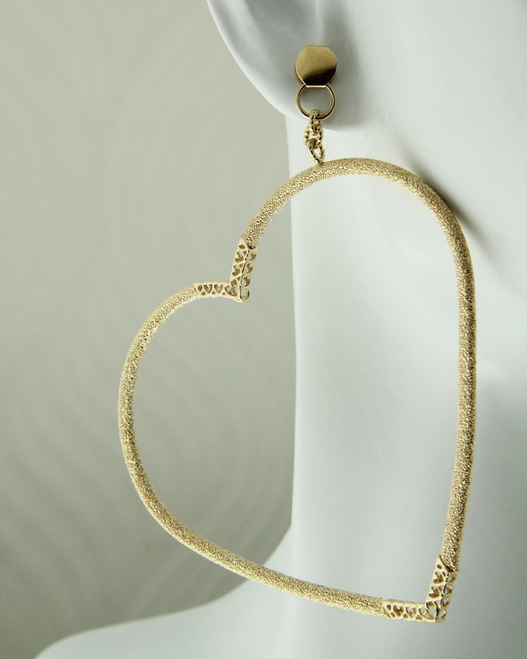 Σκουλαρίκια χρυσά Κ14   γυναικα κοσμήματα με καρδιές