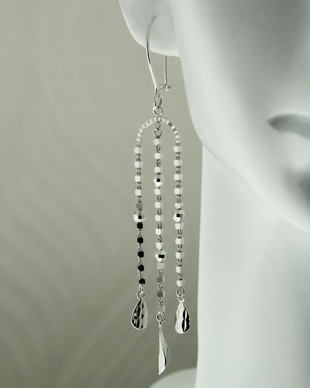 Σκουλαρίκια λευκόχρυσα Κ14   γυναικα σκουλαρίκια σκουλαρίκια λευκόχρυσα
