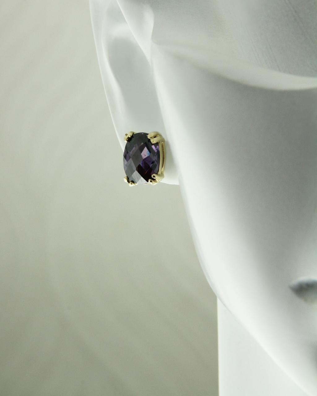 Σκουλαρίκια χρυσά Κ14 με Ζιργκόν   γυναικα σκουλαρίκια σκουλαρίκια χρυσά