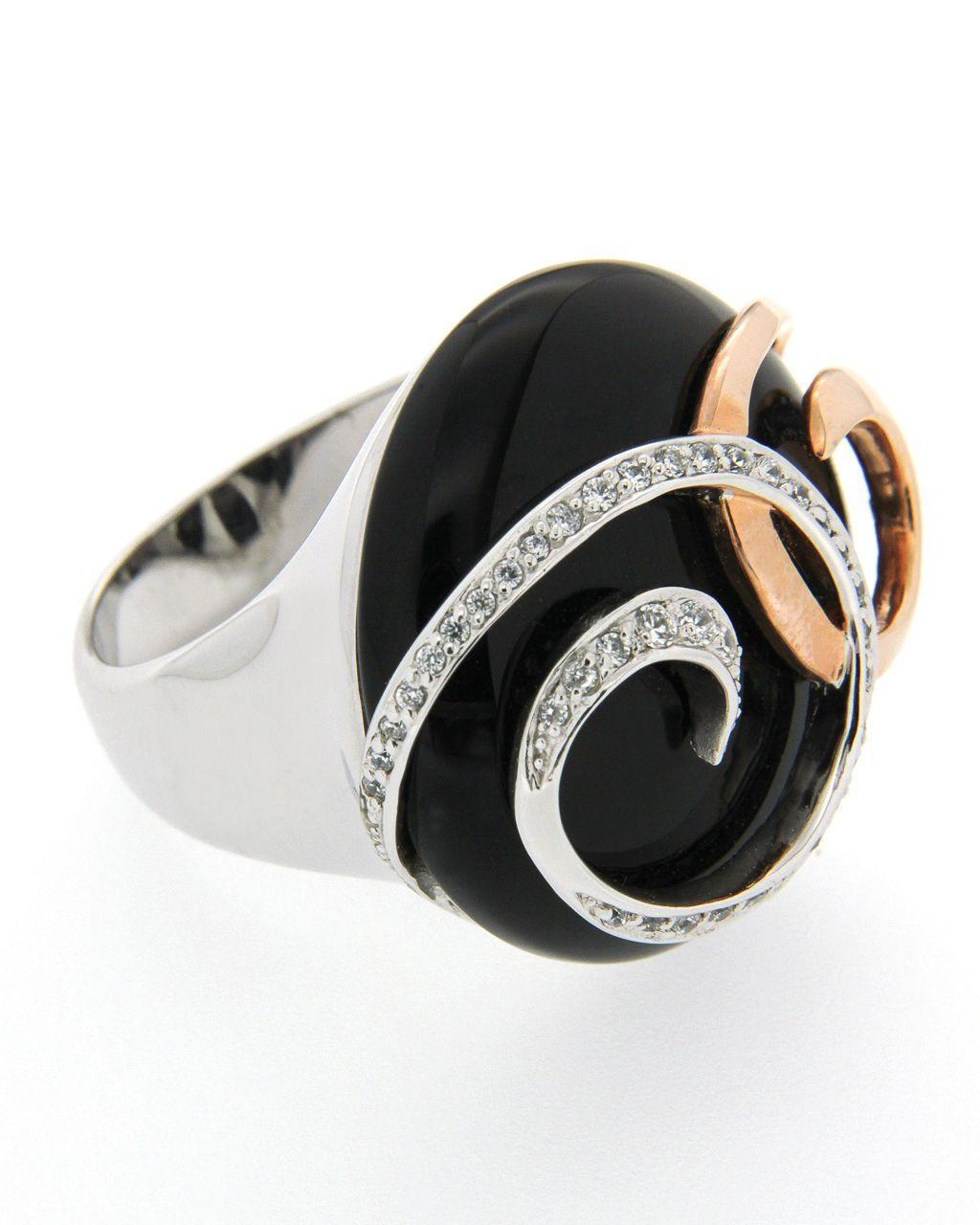 Δαχτυλίδι από επιχρυσωμένο ασήμι 925 με Όνυχα AD02448   γυναικα δαχτυλίδια δαχτυλίδια ημιπολύτιμοι λίθοι