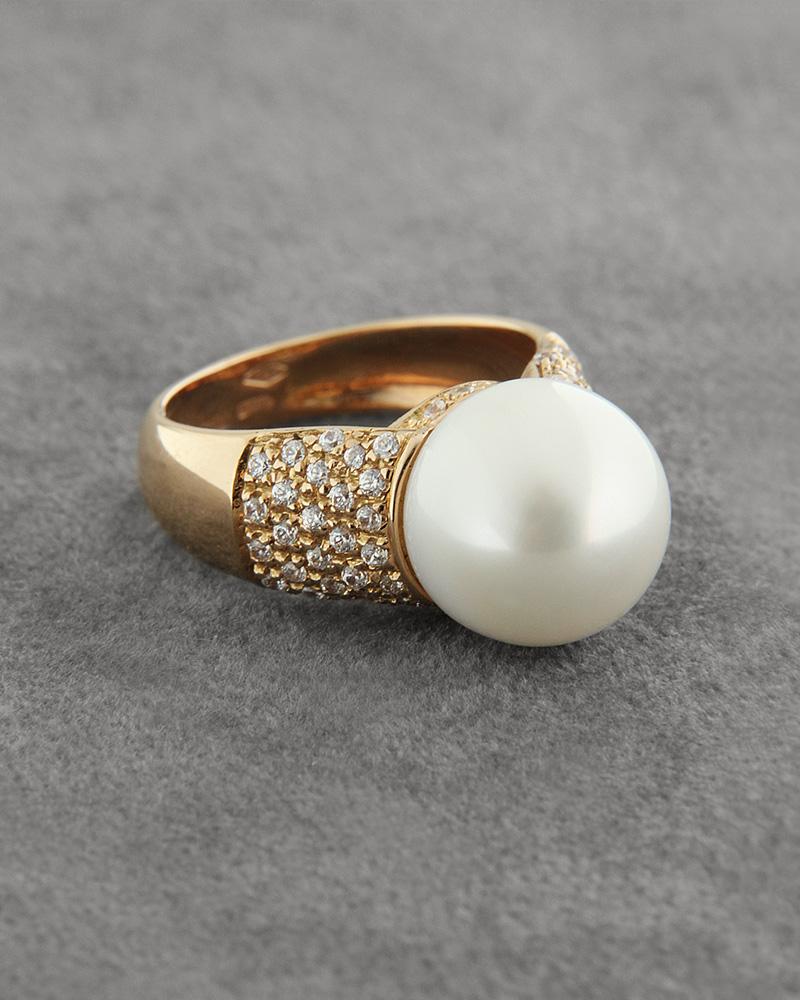 Δαχτυλίδι 18Κ ροζ χρυσό με Μαργαριτάρι και Ζιργκόν   γυναικα δαχτυλίδια δαχτυλίδια με μαργαριτάρια