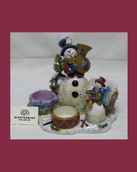 Κηροπήγιο για ρεσώ με χιονάνθρωπο   δωρα δώρα χριστουγέννων