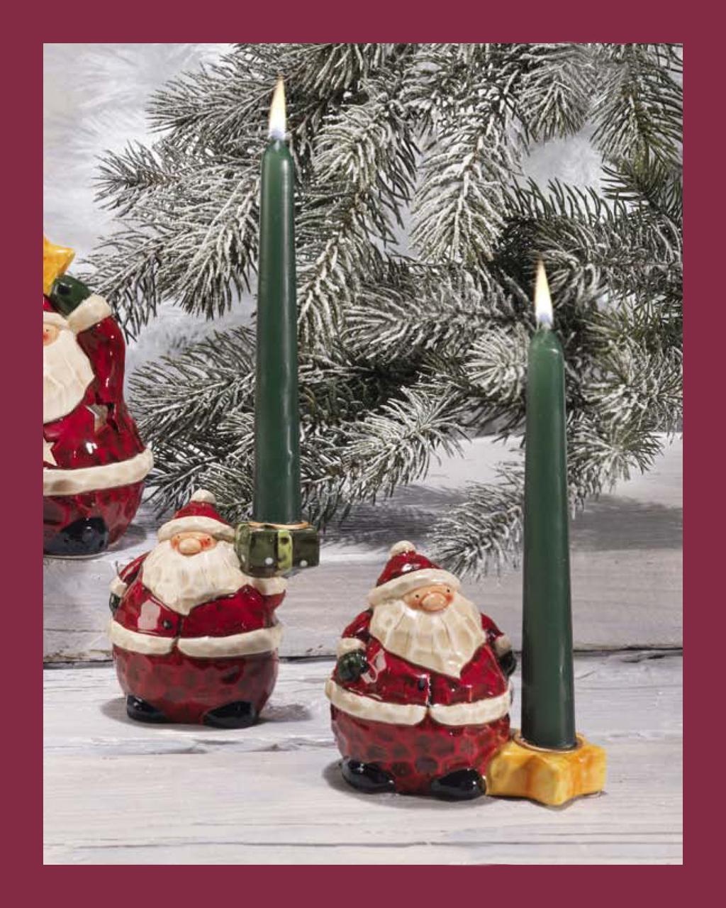 Κηροπήγιο με τον Αγιο Βασίλη   δωρα δώρα χριστουγέννων