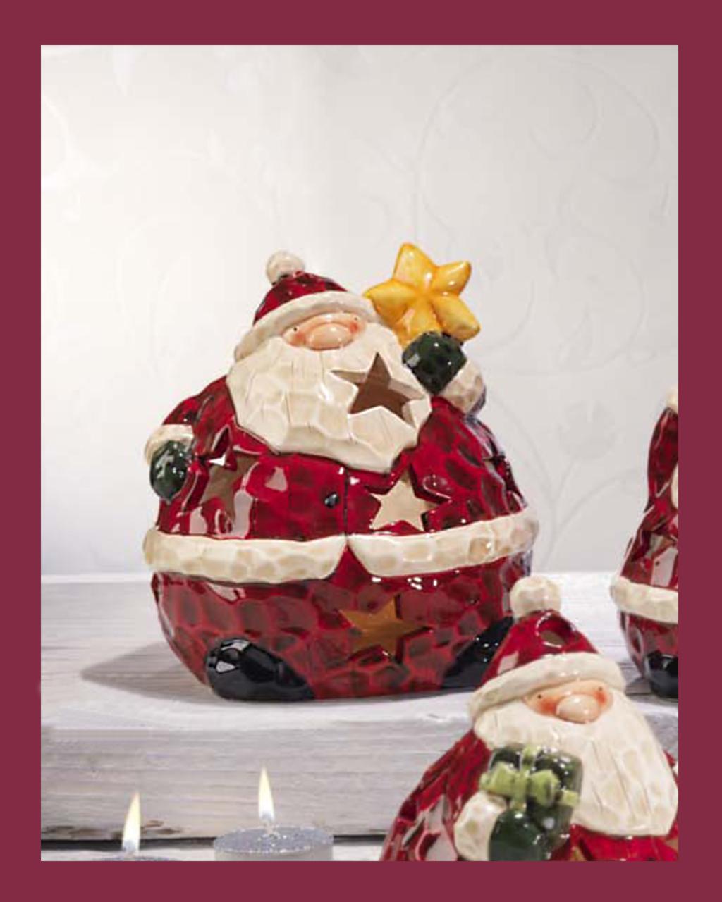 Κηροπήγιο με τον ?γιο Βασίλη   δωρα δώρα χριστουγέννων
