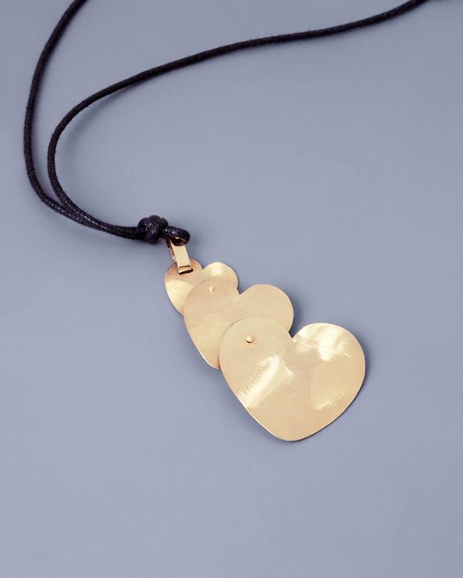 Κρεμαστό με τρεις καρδιές χρυσό Κ18   γυναικα κοσμήματα με καρδιές