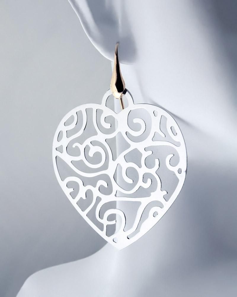 Σκουλαρίκια από επιχρυσωμένο ασήμι 925   γυναικα κοσμήματα με καρδιές