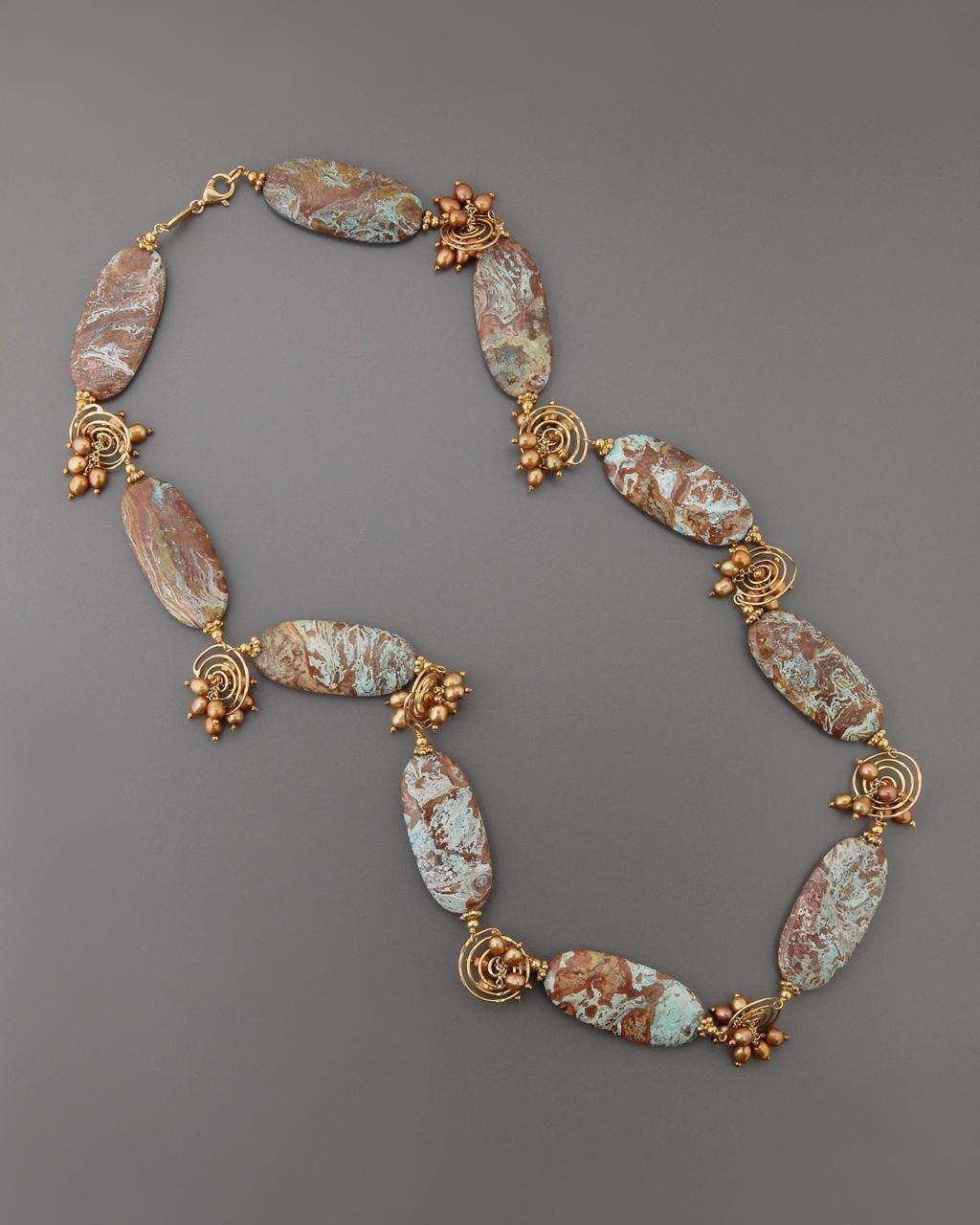 Κολιέ ασημένιο 925 με Ορυκτές πέτρες & Μαργαριτάρια   γυναικα κρεμαστά κολιέ κρεμαστά κολιέ ημιπολύτιμοι λίθοι