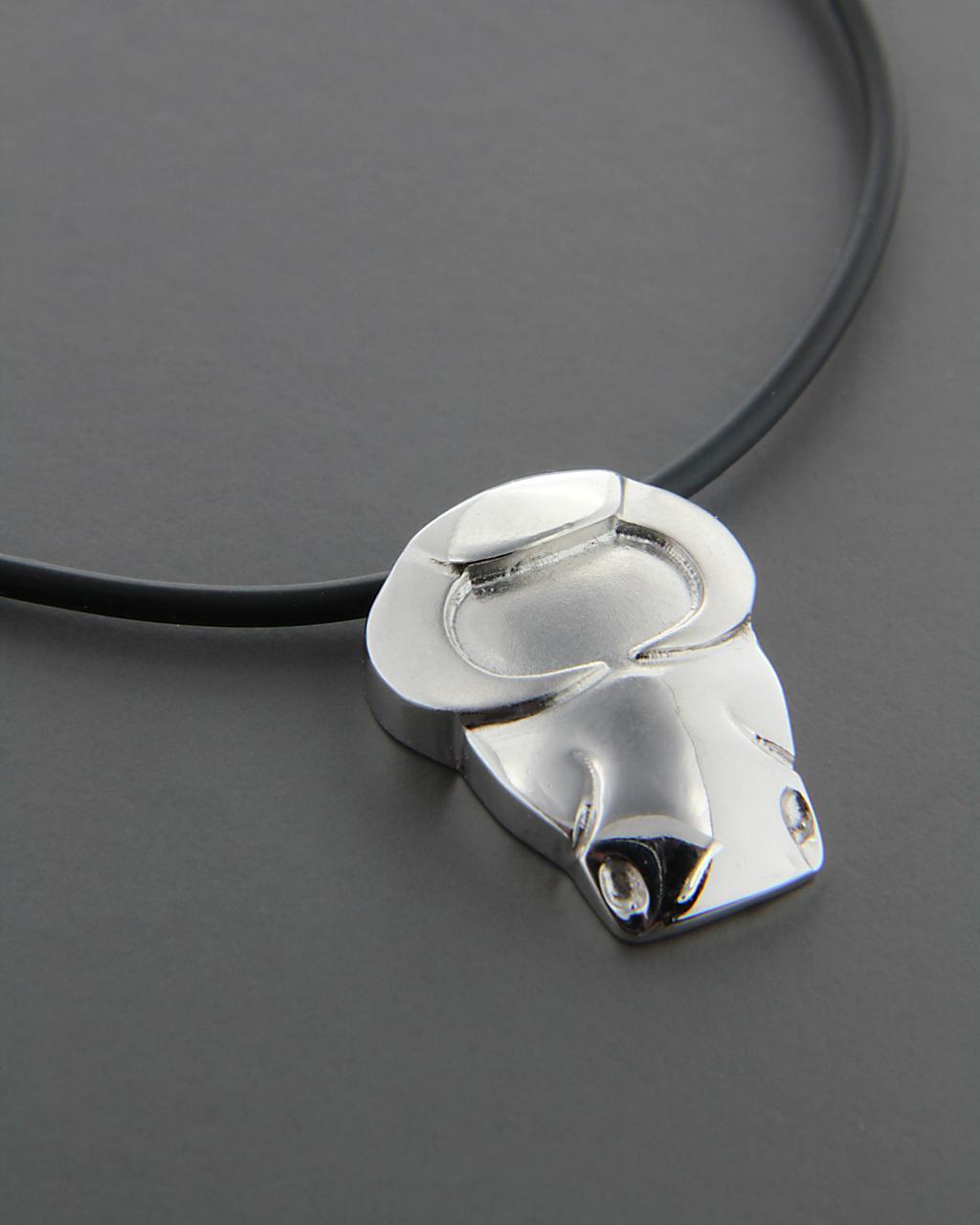 Κρεμαστό ζώδιο Ταύρος λευκόχρυσο Κ14   κοσμηματα κρεμαστά κολιέ κρεμαστά κολιέ ζώδια