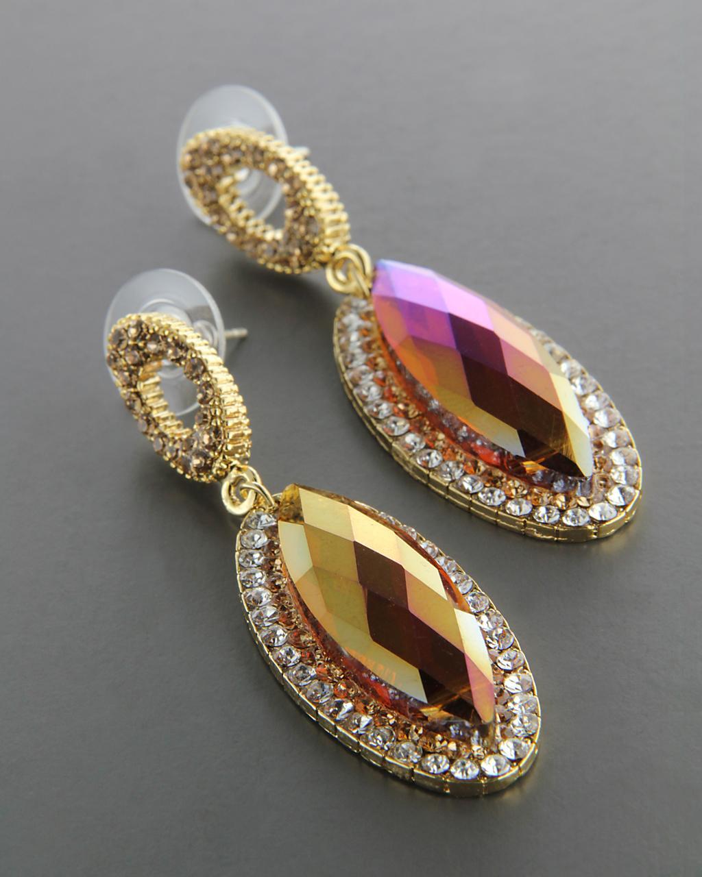 Σκουλαρίκια από Ορείχαλκο με Swarovski & Ζιργκόν   γυναικα σκουλαρίκια σκουλαρίκια fashion