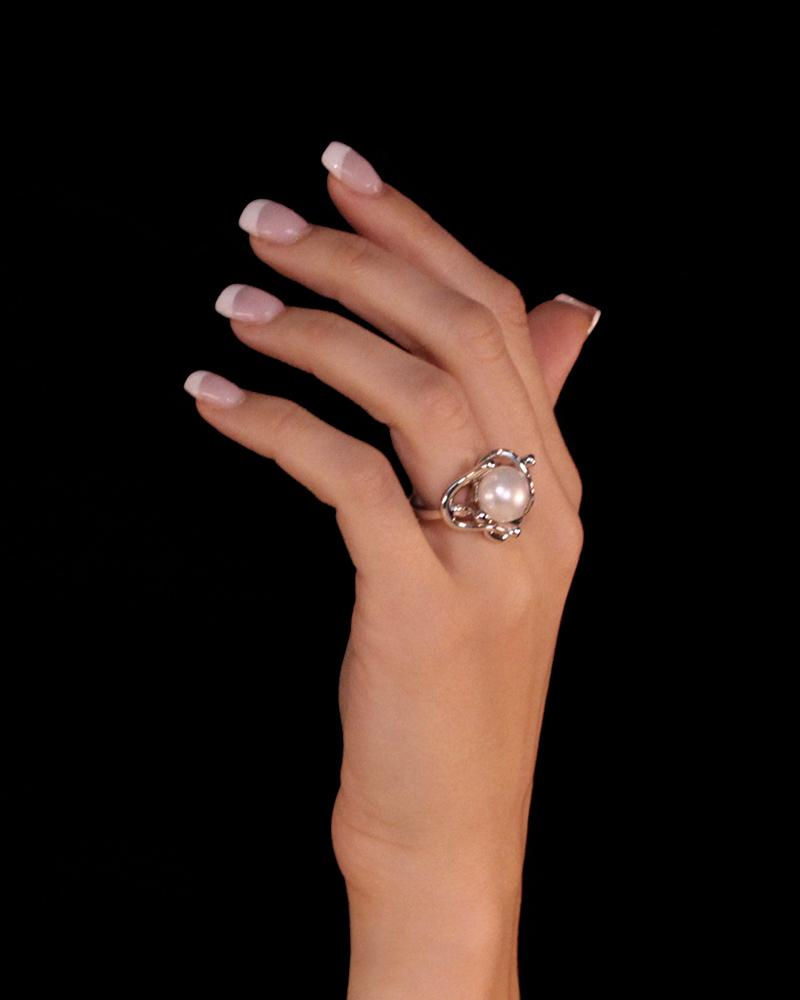Δαχτυλίδι λευκόχρυσο Κ18 με Διαμάντια & Mαργαριτάρι   κοσμηματα δαχτυλίδια δαχτυλίδια μαργαριτάρια