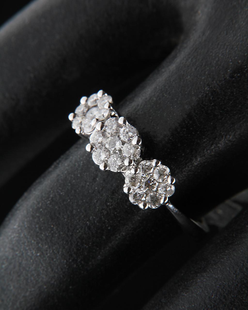 Δαχτυλίδι από λευκόχρυσο Κ18 με Διαμάντια   γυναικα δαχτυλίδια μονόπετρα με διαμάντια