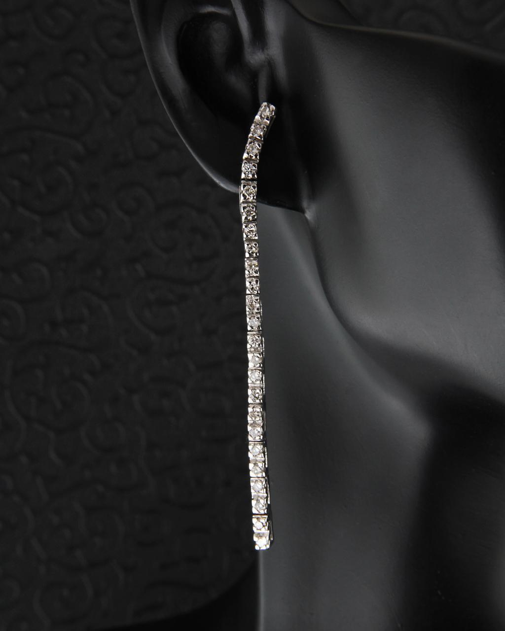 Σκουλαρίκια από λευκόχρυσο Κ18 με Διαμάντια   γαμοσ νυφικό κόσμημα