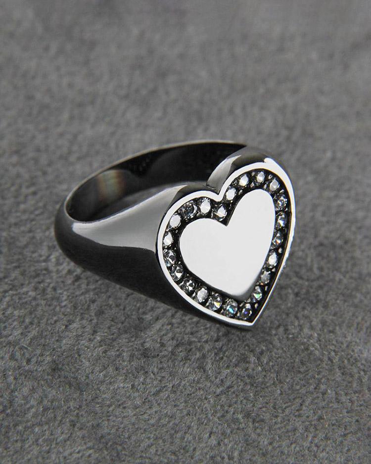 Δαχτυλίδι chevalier λευκόχρυσο Κ14 με Ζιργκόν   κοσμηματα δαχτυλίδια δαχτυλίδια fashion