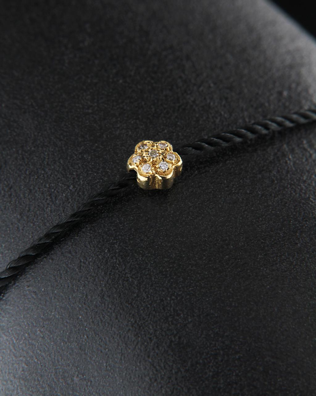 Βραχιόλι χρυσό Κ18 με Διαμάντια   γυναικα βραχιόλια βραχιόλια δέρμα καουτσούκ