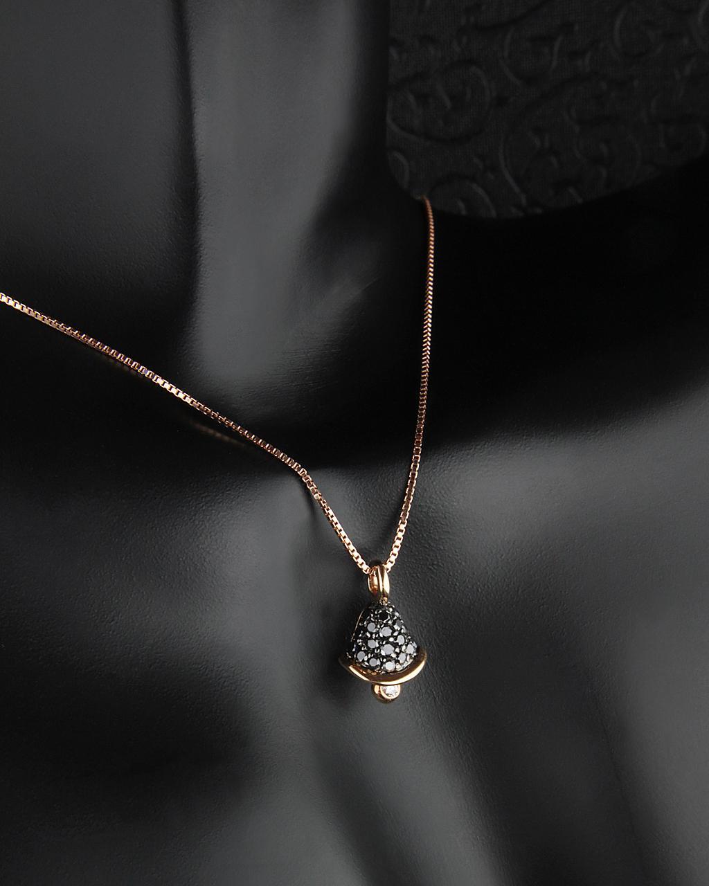 Κρεμαστό ροζ χρυσό Κ18 με Διαμάντια   γυναικα κρεμαστά κολιέ κρεμαστά κολιέ ροζ χρυσό