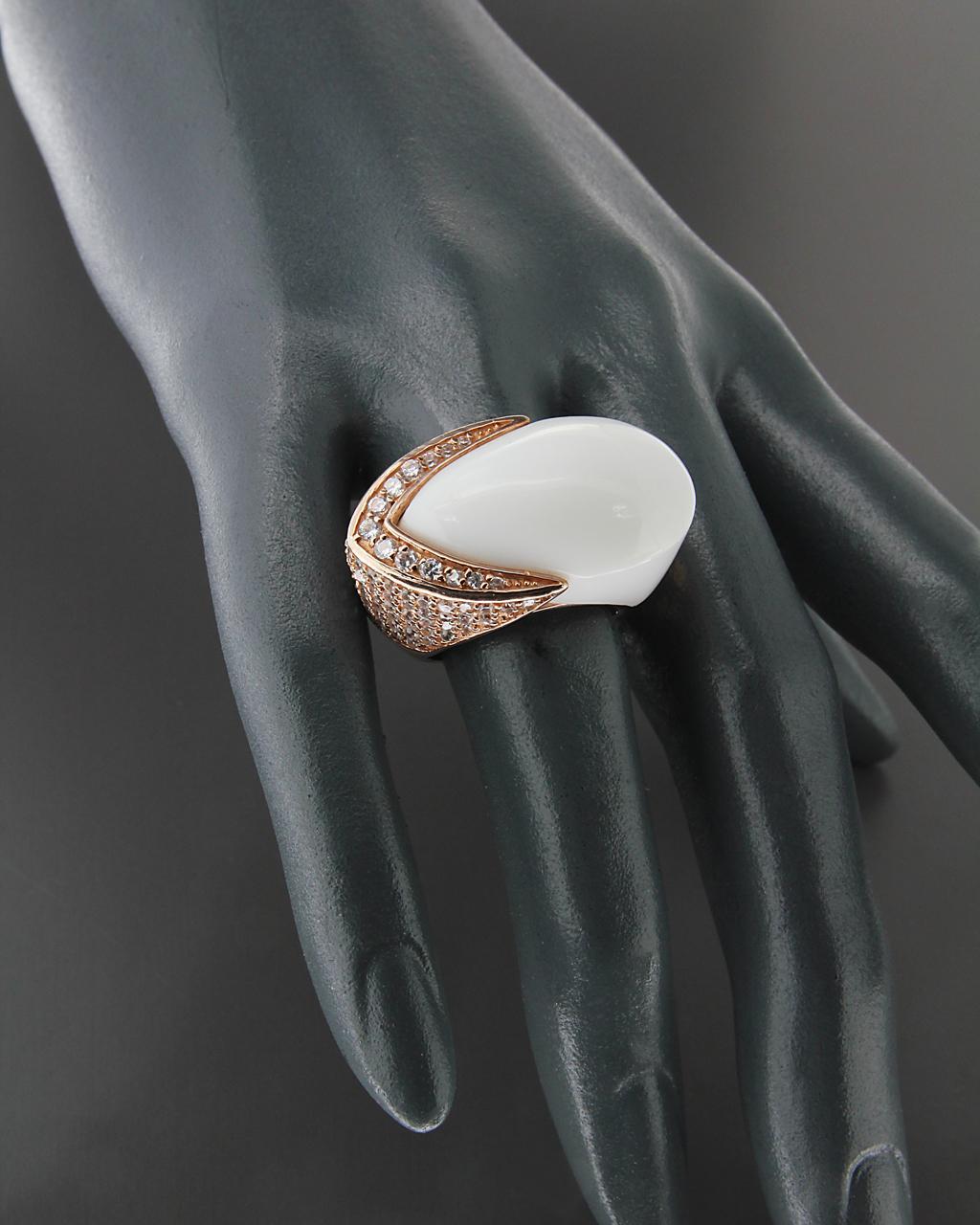 Δαχτυλίδι ασημένιο 925 με συνθετικό Όνυχα & Ζιργκόν   γυναικα δαχτυλίδια δαχτυλίδια ημιπολύτιμοι λίθοι