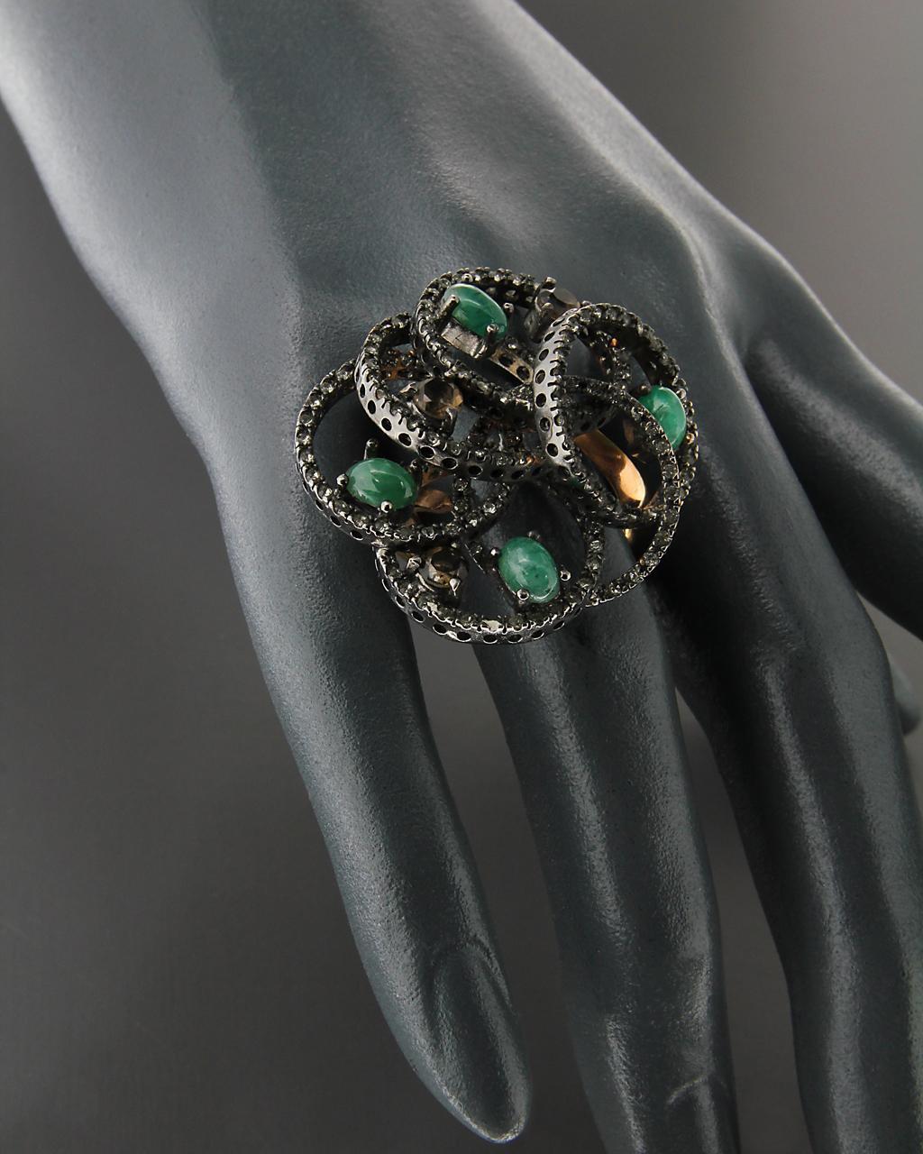 Δαχτυλίδι ασημένιο 925 με Τοπάζι, Ζαντ & Ζιργκόν   γυναικα δαχτυλίδια δαχτυλίδια ασημένια