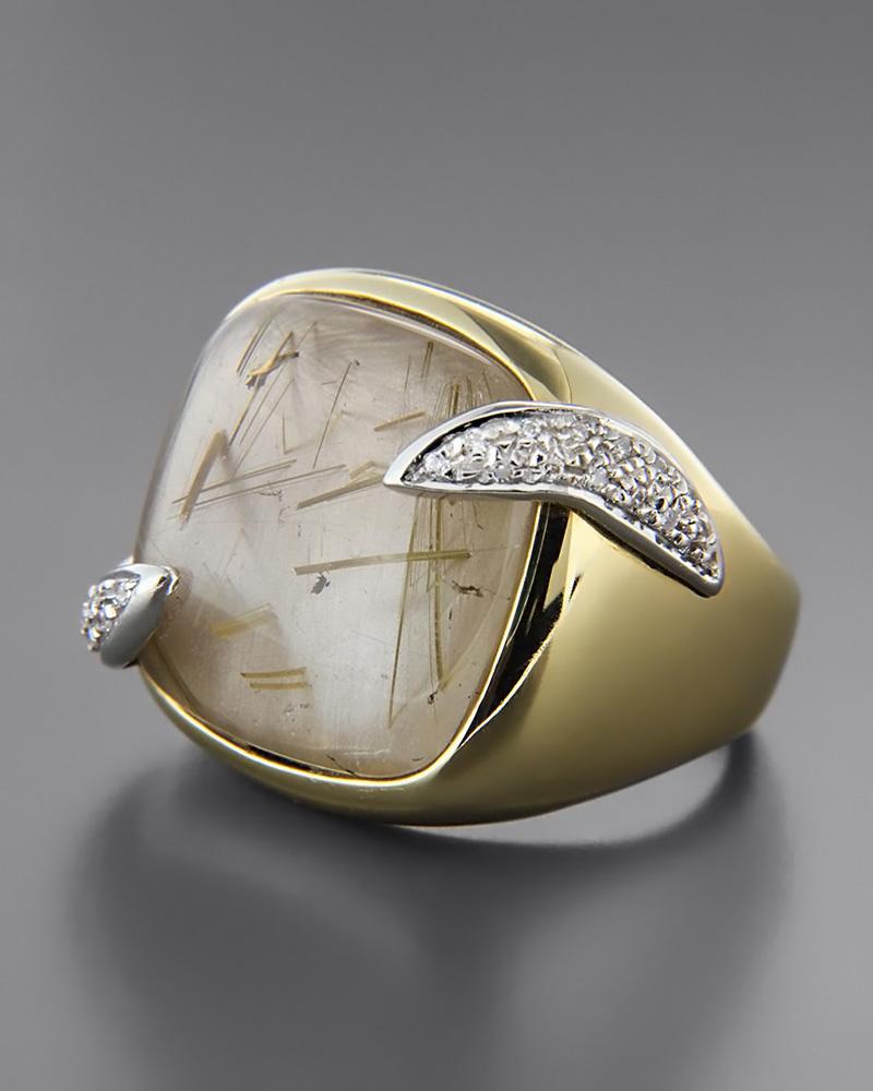 Δαχτυλίδι χρυσό Κ18 με Ορυκτή πέτρα και Ζιργκόν   γυναικα δαχτυλίδια δαχτυλίδια χρυσά
